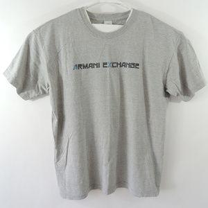 Armani Exchange Mens Tee Short Sleeve Gray Sz L